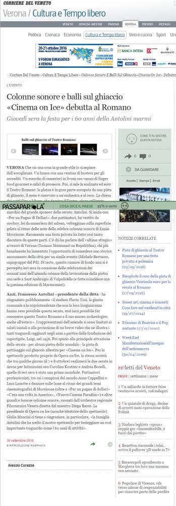 COLONNE SONORE E BALLI SUL GHIACCIO: CINEMA ON ICE DEBUTTA AL ROMANO